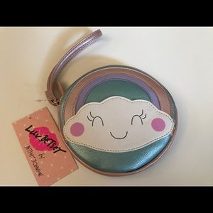 Betsey Johnson Coin Purse with Strap Rainbow